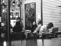 Tea House on Mott Street, Chinatown, NYC (C@mera M@n) Tags: blackandwhite candid chinatown city citylife manhattan monochrome ny nyc newyork newyorkcity nightphotography people places nycphotography outdoors peoplewatching urbanlife