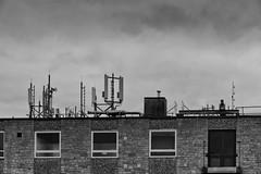Communications (FTonyC) Tags: blackandwhite monochrome aerials masts communication radio mobilephone slta99v urban