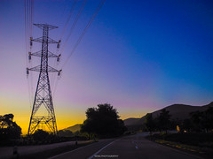 until the shadow of the sunset (e.velzquez) Tags: sunset sun light wireless wire mountain outdoor road journey adventure ontheroad travelling