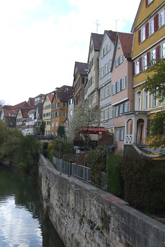 Buildings of Old Town facing Neckar River, 08.04.2012.