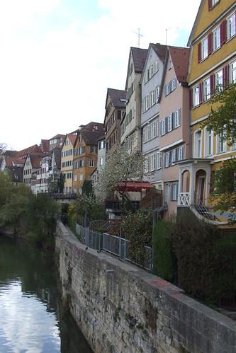 Buildings of Old Town facing Neckar River, 08.04.2012.
