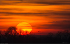 Long distance sunset