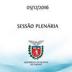 Sessão Plenária 05/12/2016