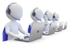 Employees working in a call center (Leigh Alexander) Tags: call business help person phone support service customer headset corporate center communication computer contact 3d professional human man company businessman isolated information connect conference microphone headphone news white dispatcher callcenter illustration concept work people computing helpdesk worker operator team desk representative office communicate manager internet character group teamwork figure telemarketing spain