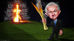 Jeff Sessions - Keeper of the Flame (DonkeyHotey) Tags: jeffsessions jeffersonbeauregardsessionsiii attorneygeneral senator alabama rnc gop votingrights privacyrights prisonreform policereform marijuanalegalization immigrationreform womensrights civilrights lgbtrights genderequality republican 2016 donkeyhotey photoshop caricature cartoon face politics political photo manipulation photomanipulation commentary politicalcommentary campaign politician caricatura karikatuur karikatur