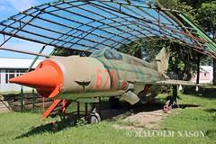 MIG-21MF 670 EAST GERMAN AIR FORCE (shanairpic) Tags: preserved museum merseburg jetfighter military mig eastgermanairforce