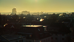 Rooftop morning (Anaglyph 3D) (exkeks) Tags: chimney smoke morning winter roof cityscape dawn sunrise 3d stereography