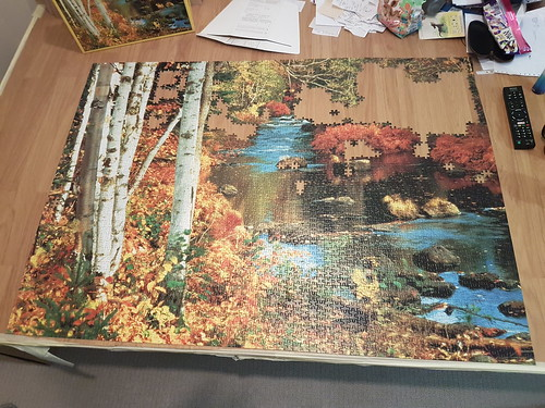 Waterfall in Minnesota, MB, 3000 pc, 1990, progress 3