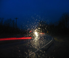 What Shenanigans These? (oldoinyo) Tags: night rain windshield cars lights road wet enigmatic
