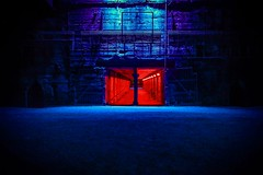 Road to Hell (Mariusjtz) Tags: road hell red blue green purple instagram landschaftspark nord duisburg nice photooftheday photography industry light lightinstallation art love photoshop lightroom jpeg camera canon eos 1100d