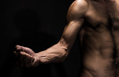 Strong (Sara F. Massieu) Tags: man nude hand force arm chest font strong nudity roja undress