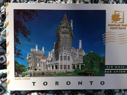 Toronto (Casa Loma) - International Postage Paid Postcard