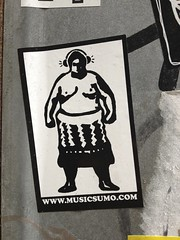 SUMO (btwimjordan) Tags: travel music streetart netherlands dutch amsterdam sticker tourist sumo wrestler traveling