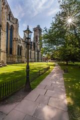York Minster Gardens (The Barbican) Tags: york green church grass garden streetlight streetlamp path yorkminster northyorkshire