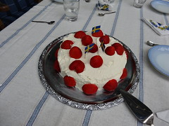 Mid summer cake (petrusko.rm) Tags: summer cake strawberry sweden sony cream mid hx20