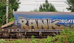 RANK (JOHN19701970) Tags: uk england june train wagon graffiti artist steel tracks railway boxcar graff runner freight hertfordshire traingraffiti freights 2013