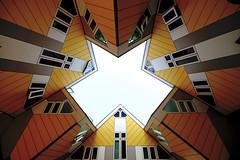 CUBE HOUSES ROTTERDAM (CUMBUGO) Tags: street city light sunlight house holland color art town rotterdam nikon europe nederland netherland nikkor d800 symetrie 1424mm d800e
