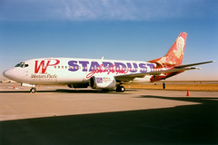 Western Pacific Airlines   Boeing 737-300   N950WP   Stardust Casino livery   Denver International (Dennis HKG) Tags: plane airplane airport aircraft den denver boeing stardust 737 kden planespotting boeing737 westernpacific 737300 boeing737300 n950wp