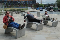 Sunbathing Manchester Style (zawtowers) Tags: new relax manchester happy canal flickr afternoon faces chairs sunday august stuart basin 18 islington stroll lounger meet sunbathing manchesteruk grout ancoats flickrgroups 2013 afortiorama ihdphotography
