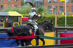 Jousting for Rings (jamesdonkin) Tags: horse public animal costume action leeds medieval tournament lance knight armour jousting royalarmouries platemail historicalgarb sengeorge fullplatearmour