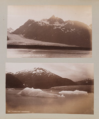 [top] Davidson Glaciers (at 10:30 P. M.); [bottom] 69. Floating Icebergs (SMU Central University Libraries) Tags: mountains icefloes glaciers pacificnorthwest icebergs uswest chilkatinlet