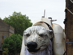 (JudyGr) Tags: london giant march puppet protest shell greenpeace demonstration polarbear aurora dsc06067 savethearctic