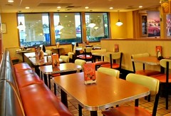 ..golden oldies! (wards work) Tags: light gold golden mural all chairs american tables dining lit wi depth aw vibe indirect wisc wautoma 4wwc