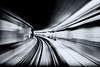 Skytrain Tunnel (. Jianwei .) Tags: city light urban vancouver downtown tunnel slowshutter skytrain waterfrontstation kemily nex5