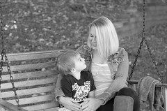 Love (Patron Miller Photography) Tags: family blackandwhite love amber child son swing braxton faceexpression mygearandme
