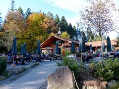 Hotel Bareiss: Sattelei Hiking Hut (romanboed) Tags: travel autumn trees black fall leaves forest germany landscape hotel europe hiking foliage hut schwarzwald bareiss baiersbronn mitteltal sattelei