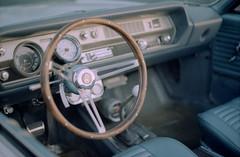 Driver's Seat (dtanist) Tags: new york city nyc newyorkcity newyork film beach car wheel brooklyn analog 50mm bay belt bath ar kodak seat shore parkway promenade 100 konica t3 caesars drivers oldsmobile gravesend autoreflex ektar hexanon