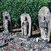 Carved Stone Buddhist Statues, Hakone, Japan, 1980
