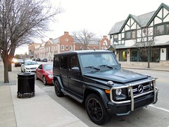 Mercedes-Benz G 63 AMG (Hertj94 Photography) Tags: lake black public forest mercedes benz illinois nikon downtown g 63 exotic german april spotted suv v8 matte amg 2013 s8200