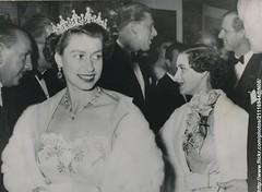 Queen and Princess at film festival (romanbenedikhanson) Tags: 1954 queenelizabeth princessmargaret eveninggowns italianfilmfestival originalphoto longwhitegloves neapolitanfantasy italianfilmfestivalinlondon