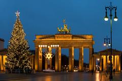 Berlin - Christmas and Hanukkah in Brandenburg Gate,