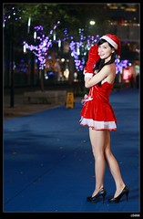 nEO_IMG__MG_0136 (c0466art) Tags: christmas school light red portrait white girl beautiful female night canon photo asia university pretty skin gorgeous skirt short attractive 5d lamps cloth charming pure c0466art