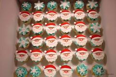 Ho Ho Ho... (Little Cottage Cupcakes) Tags: santa christmas snowflakes cupcakes mini santaclaus schoolparty littlecottagecupcakes