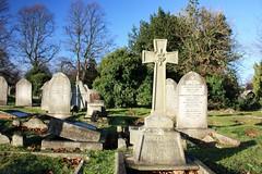 Grave of Martha & Douglas Sutherland & Sarah Elizabeth Johnson (Hawk Moth) Tags: england cemetery grave memorial derbyshire rip headstone tombstone graves gravestone burial derby epitaph interment chaddesden nottinghamroadcemetery