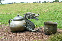 Teapot Dragon Head @ Zealong Tea Estate (Yortw) Tags: newzealand fountain statue lumix tea january panasonic northisland teapot waterfeature 2014 teaestate panasoniclumix gordonton microfourthirds microfourthirdsmicro43 dmcg10 microfourthirds43 zealong