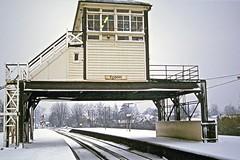 Epsom Signalbox (Deepgreen2009) Tags: winter snow station unique over railway surrey southern epsom signalbox straddling