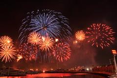 Fireworks (Dina Alkhoudari) Tags: marina nikon dubai fireworks uae dubaishoppingfestival dsf  d90  dubaifestivalcenter