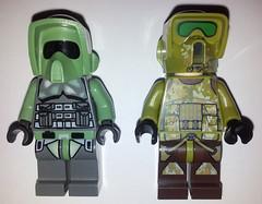 Kashyyyk trooper comparaison (Mangetsu16) Tags: set star starwars ship republic lego captain spaceship wars minifig clone legostarwars commander wookiee clonewars kashyyyk