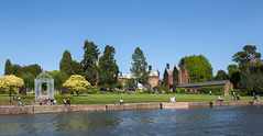 Capesthorne Hall and Lake (Paul Simpson Photography) Tags: people water cheshire sony bluesky statelyhome photosof imageof photoof capesthornehall imagesof may2011 paulsimpsonphotography