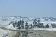 Auf dem Weg zum Little Bighorn (Lispeltuut) Tags: usa snow montana day amerika countryroad littlebighorn custer landstrasse nordamerika
