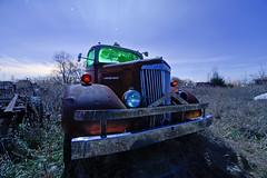 White Super Power (Nocturnal Kansas) Tags: longexposure nightphotography white lightpainting night truck rust power nocturnal rusty super fullmoon firetruck kansas peelingpaint derelict 1950 outofservice paintwithlight nocturnes mattefinish nocturnalkansas