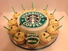 Starbucks Birthday Cake & Cupcakes (LizzieQ Creations) Tags: birthday cake cupcakes starbucks
