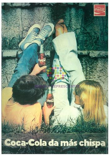 """Coca Cola. """"Coca Cola da más chispa"""". Años 60"""