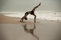 Beach yoga (Niki van Velden) Tags: ocean morning sea woman beach beautiful yoga landscape sand surf exercise indianocean fitness umhlanga nikivanvelden