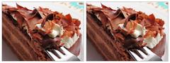 IMG_5758 Chocolate cake (parallel 3D) (yoshing_BT) Tags: cake dessert stereophoto stereophotography 3d chocolate stereo stereoview stereograph parallel cioccolato chocolat  coklat   suklaa   cc2 czekolada parallelview     parallel3d  ciocolat