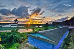 (M.K. Design) Tags: longexposure sunset nature beautiful field landscape amazing nikon scenery glow village zoom farm country taiwan    nano  ultrawide   afs  2014         28g      1424mm   d800e fireofclouds